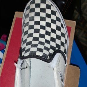 Boys Youth Checkered Vans